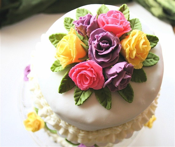 how to make fondant roses for wedding cakes fondant wedding cake topper 15942
