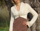 Beautiful bolero in knitted with soft cotton Jersey as lining