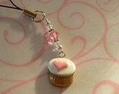 Cupcake Cell Phone Charm or Key Chain