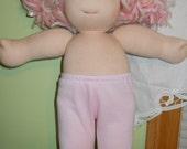 Pastel Pink Leggings -  Waldorf Doll Clothes - 15 Inch Bamboletta Size BG