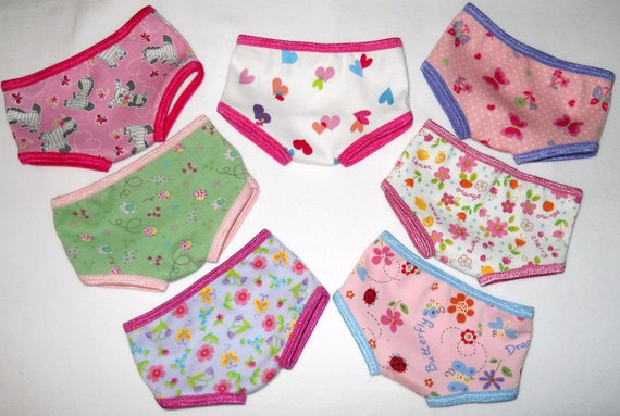 Waldorf Doll Clothes - Girls Panties Underwear -- Your Choice -- 15 16 Inch