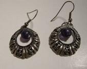Vintage Silver w/ Amethyst Earrings