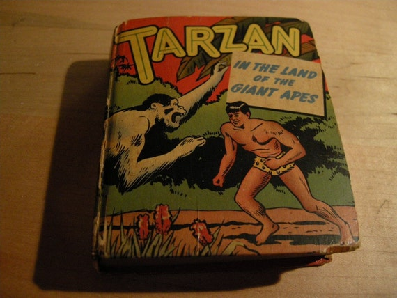 Vintage BIG LITTLE Books  Tarzan In The Land Of The Giant Apes Big Little Books 1949