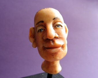 """One of a Kind - Original """"Mikey"""" Polymer Clay Sculpture - Tiny Face"""
