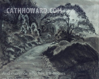 Tanzania Path -- charcoal