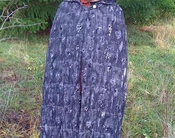 PRICE REDUCTION!-Beautiful Handmade, Reversible Cloak- Charcoal Grey