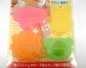 Perfect for Bento and Party - Cute Animal Shaped Bread Cutter Set of 4 - elephant, rabbit, lion and bear