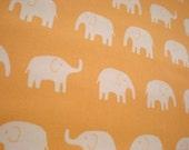 SALE Cute Japanese Fabric - Large Elephant Orange - 1/2yd