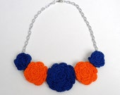 Florida Gators Rose Bib Necklace