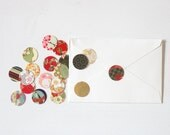 Chiyogami Stickers . Envelope Seals