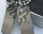Plantium Chinese Phoenix and Dragon USB 2.0 Flash Memory Necklace (4GB) - Prices shown for 2 USB