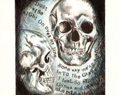 RESERVED for JadeSB ONLY Anatomy Skulls Art, Them Bones, Alice in chains lyrics, Ink and Water color