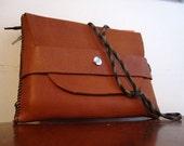 Leather book pouch - crossedinlove