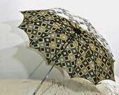 50% OFF SALE vintage geometric umbrella