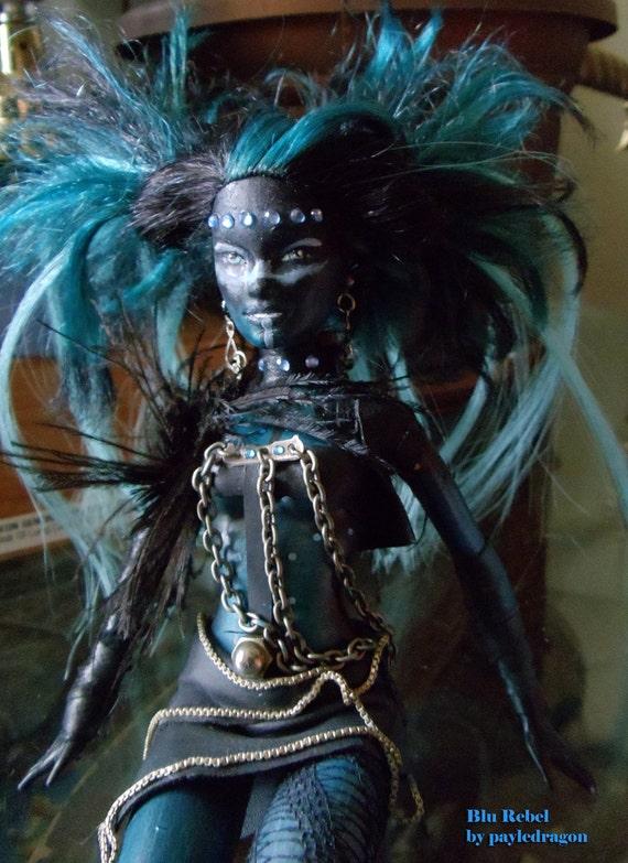 meet blu rebel an altered myscene barbie doll