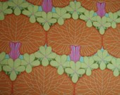 RESERVED FOR dawnquilt Amy Butler Midwest Modern Nouveau Trees in Tangerine ab30-tangerine - By the Yard