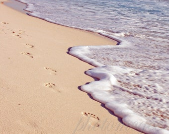 Footprints in the Surf - 8x10 in matte finish