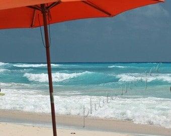 Beach Umbrella - Orange or Pink