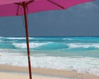 Photography Art - Emily - Umbrella in Barbados