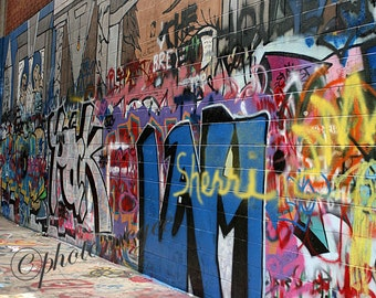 Custom Graffiti Art, your name on the wall in an 8x10 photo