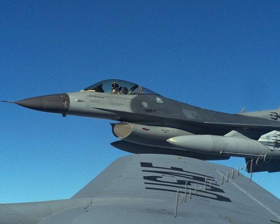 Photography - Flight 1 -  KC135 F16 in flight Air Force SANG Michigan Detroit