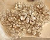 Beaded Crystal Bridal Garter Set - Product code Viva ivory - 3