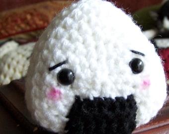 Crocheted Onigiri Pattern