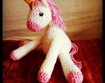 Crocheted Unicorn Doll- Made to Order