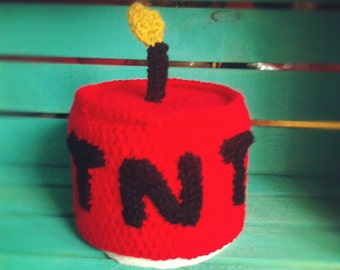 Crocheted TNT Toilet Paper Cover Pattern