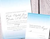Modern Wash Wedding Invitation - Deposit Only