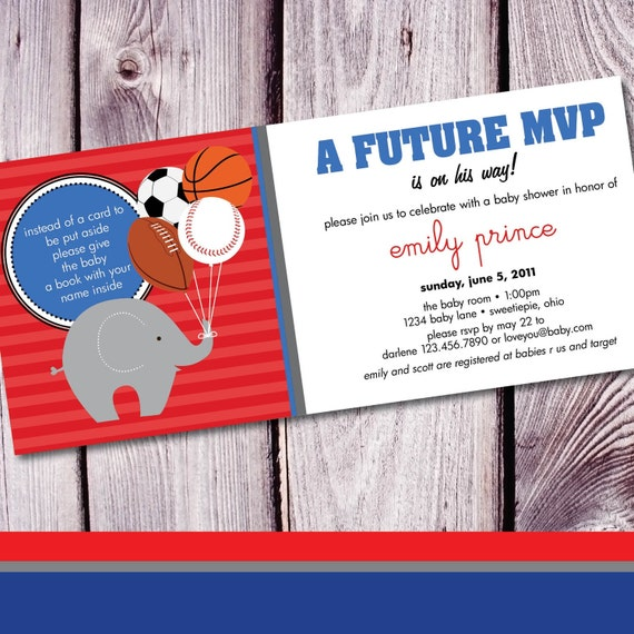 MVP Baby Shower Invitation - Set of 25