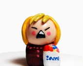 Angry Shopper Miniature Figurine Funny Collectible - READY TO SHIP - Handmade by The Happy Acorn