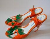 Vintage Etro Parrot Sandals Size 40