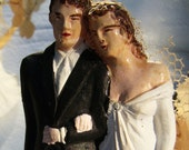 Sweetest Most Romantic- Vintage Wedding Cake Topper- 1930s
