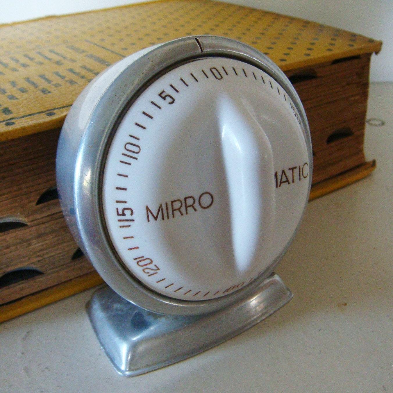 1950s Retro Kitchen Timer Mirro Matic Vintage