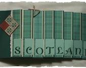 SCOTLAND Memory Book Pre-Made Scrapbook