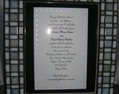 Custom Made Framed Wedding Invitations.
