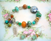 Sea Breeze - Sterling and Gemstone Bracelet