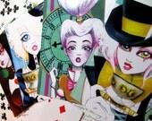 Alice in Wonderland Set of 4 Postcards