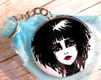 Siouxsie Sioux Gothic Punk Girl Round Key Chain