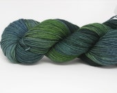 Sock Yarn Hand dyed Blue Faced Leicester