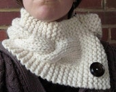 Custom Order - Cable Knit Neck Warmer Scarflette - Pick Your Color