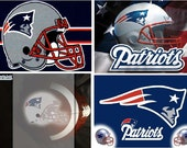 Lot Of 4 New England Patriots Fabric Panel Quilt Squares