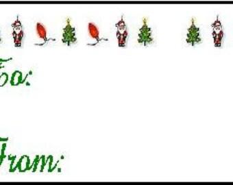 Collie Dog Christmas Gift Tags