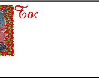 Miniature Pinscher Red Christmas Gift Tags