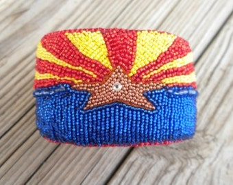 Arizona Flag Bracelet Made To Order