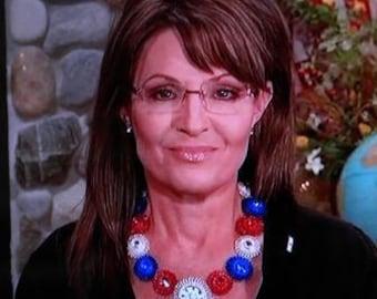 Sarah Palin Necklace  LADY LIBERTY