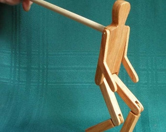 Limberjack Man with dancing board and stick