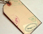 Luggage tags, mini,  wedding  travel passport, set of 20