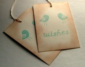 wish tree tag, wedding, baby shower, whimsy birds, vintage inspired, RESERVED